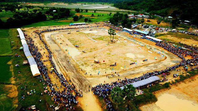 """Đây là lễ hội truyền thống được tổ chức hàng năm nhân dịp lễ hội Sen Dolta (lễ cúng ông bà) của đồng bào dân tộc Khmer, diễn ra từ ngày 29/8 – 1/9 âm lịch. Lễ hội năm nay, thu hút 64 đôi bò xuất sắc tranh tài. Trong đó, có 6 đôi đến từ huyện Hòn Đất, Giang Thành, Kiên Lương (tỉnh Kiên Giang); đặc biệt còn có 2 đôi bò của tỉnh Sóc Trăng lần đầu tham gia; số còn lại là các """"chiến binh"""" đến từ các huyện Tri Tôn, Tịnh Biên, Châu Phú, Châu Thành, Thoại Sơn (tỉnh An Giang)."""