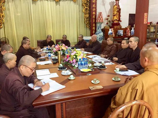 Quang cảnh buổi họp củaThường trực Ban trị sự GHPG tỉnh Vĩnh Phúc vào chiều 5/10.