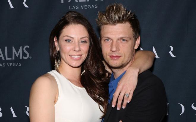 Nick Carter cùng vợ là Lauren Kitt.
