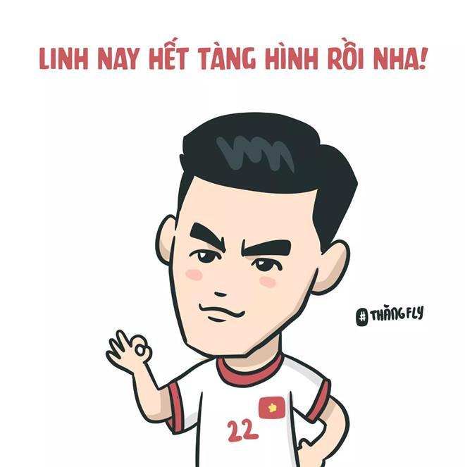 Cầu thủNguyễn Tiến Linh là người ấn định kết quả 3 bàn thắng cho tuyển Việt Nam ở phút 61.