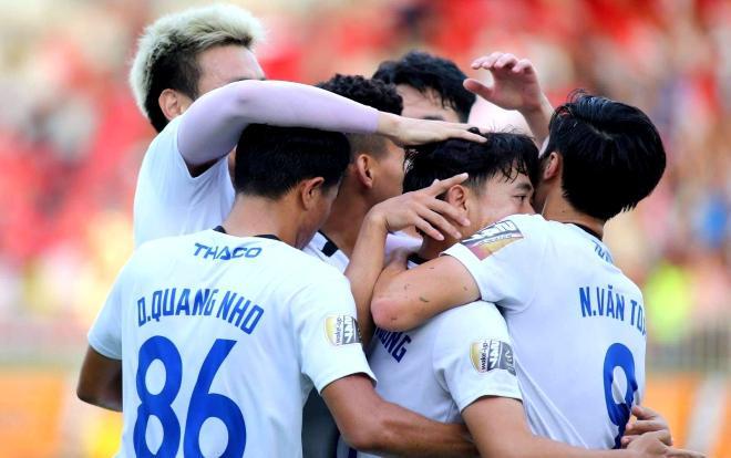 Chiến thắng 2-1 trước CLB TP.HCM giúp HAGL trụ hạng thành công ở V.League 2019. (Ảnh CLB HAGL)