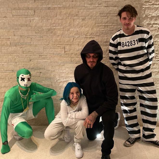 Màn hóa trang đặc biệt của các thành viên gia đình David Beckham trong dịp lễ Halloween