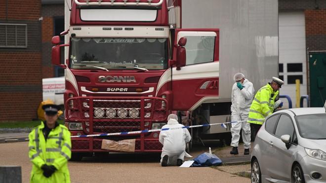 39 nạn nhân tử vong trong container ở Anh đều là người Việt Nam. Ảnh: Sky News