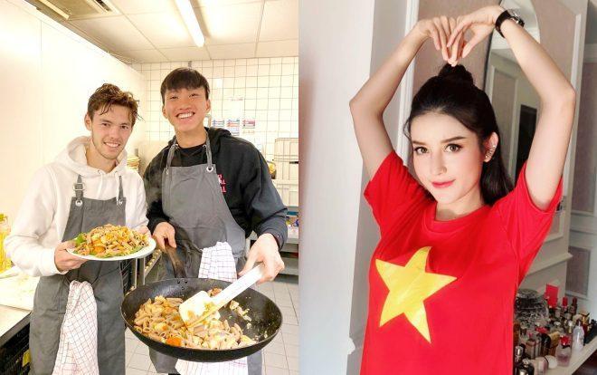 """Khoe ảnh nấu ăn, Đoàn Văn Hậu được Á hậu Huyền My gọi là """"em yêu""""."""