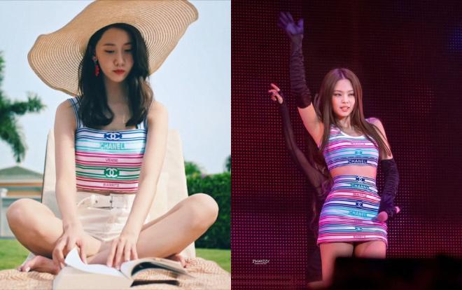 Có thể thấy cách lên đồ của nữ thần Yoona nhìn cô trông trẻ hơn hẳn so với Jennie dù cựu thành viên SNSD có số tuổi lớn hơn gà nhà YG