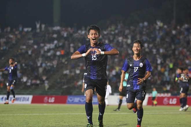 Theo bản tin thể thao hôm nay, U22 Campuchia vươn lên dẫn đầu bảng A với 4 điểm sau 2 trận.