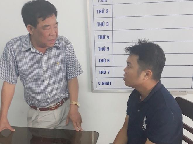 Toàn (bên phải) đối tượng gây ra vụ bắt cóc nữ sinh. Ảnh: Zing.vn