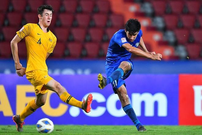 U23 Uzbekistan đã phung phí nhiều cơ hội trước U23 Australia nên họ phải trả giá đắt bằng thất bại 0-1. Ảnh: AFC