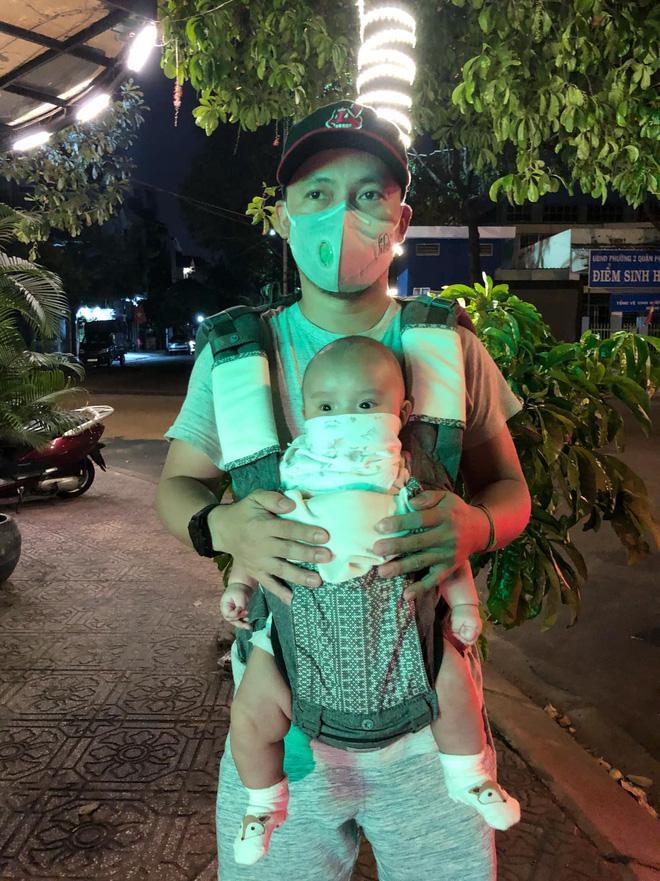 Rapper Đinh Tiến Đạt và con trai