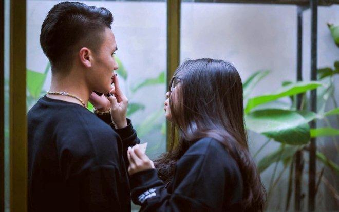 Quang Hải – Nhật Lê từng là cặp đôi được nhiều người ngưỡng mộ. (Ảnh FBNV)