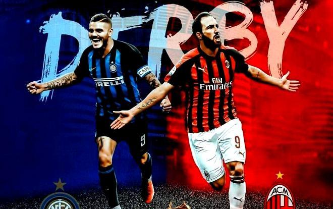 Lịch thi đấu bóng đá hôm nay, Inter Milan vs AC Milan lúc 02h45.