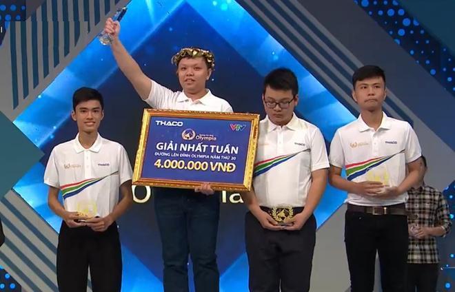 Nhờ sự bám đuổi kiên trì cùng một chút may mắn, Thái Tân đã giành được chiếc vòng nguyệt quế ở vòng thi tuần đầu tiên, tháng 3, quý II. Ảnh chụp màn hình