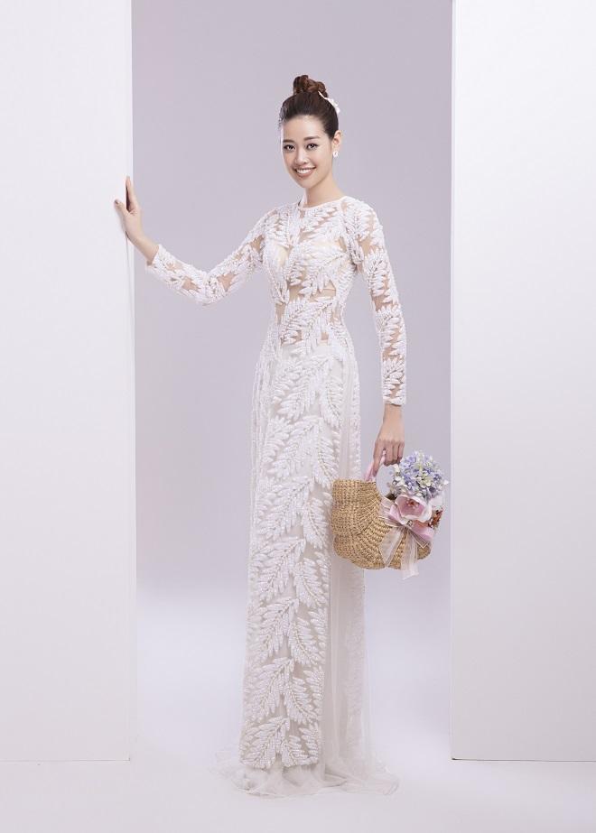 Khánh Vân tung ảnh áo dài trước khi thi Miss Universe, xứng danh hoa hậu mặc áo dài đẹp nhất! ảnh 11