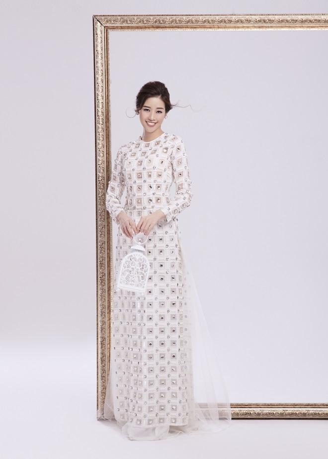 Khánh Vân tung ảnh áo dài trước khi thi Miss Universe, xứng danh hoa hậu mặc áo dài đẹp nhất! ảnh 2