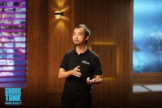 Lê Hải, người sáng lập Hoozing. (Ảnh: Shark Tank Viet Nam)