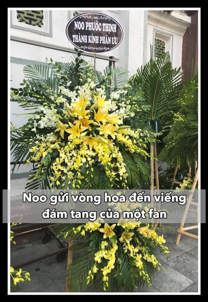 Noo Phước Thịnh lặng lẽ gửi vòng hoa viếng fan nữ mất vì ung thư ảnh 0