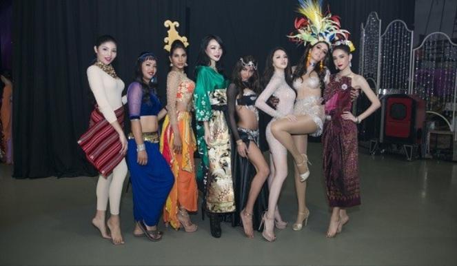 Các thí sinh của Hoa hậu Chuyển giới Quốc tế 2018.