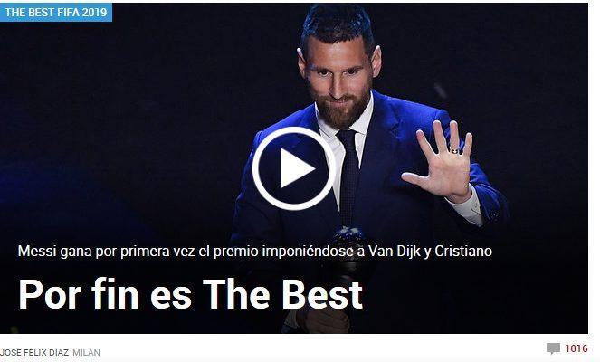 Marca, tờ báo thân Real đưa tin về chiến thắng của Messi.