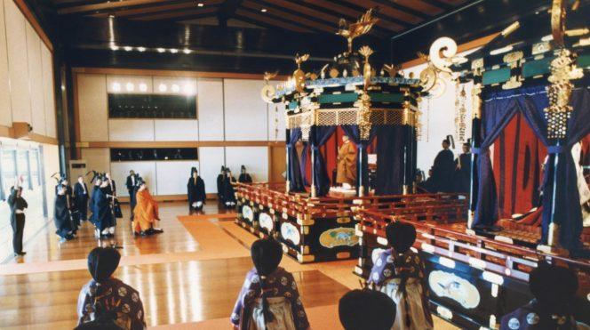 Quang cảnh lễ đăng quang của Nhật hoàng Akihito tháng 11/1990.