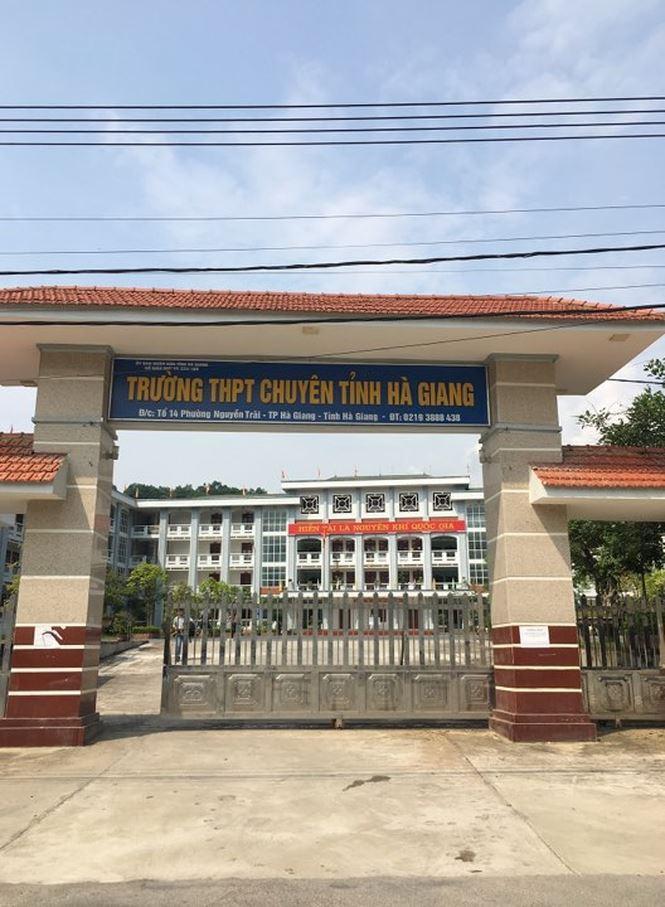 Trường THPT chuyên Hà Giang - nơi có 3 thí sinh giành điểm thi cao nhất cả nước.