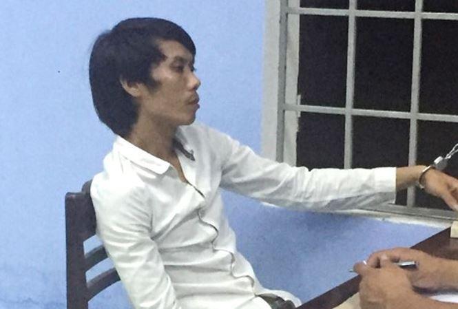 Nguyễn Khải tại cơ quan công an. Ảnh: Tiền Phong.