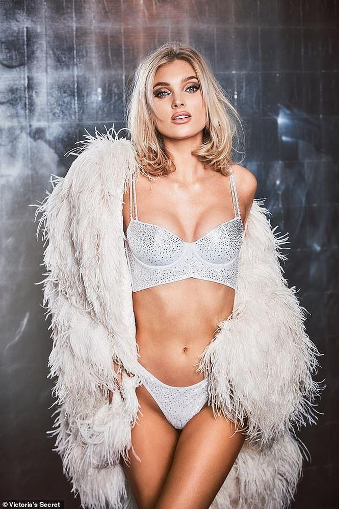 Thiên thần Elsa Hosk khoe thân hình hoàn hảo trong bộ Fantasy Bra hoàn chỉnh.