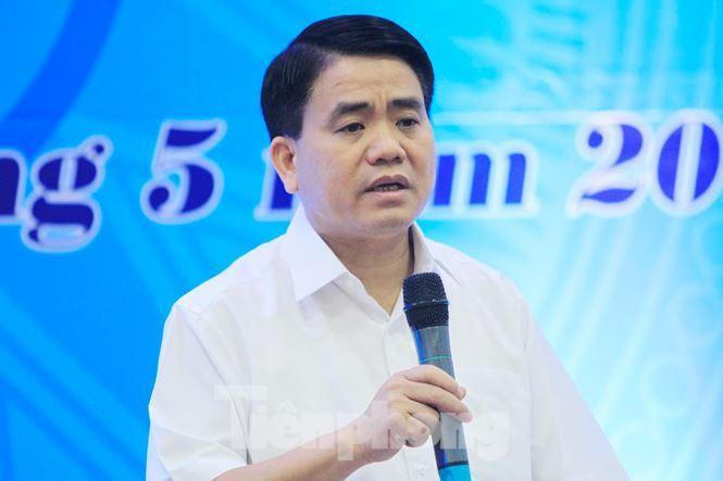 Chủ tịch UBND thành phố Hà Nội Nguyễn Đức Chung. Ảnh: Trường Phong