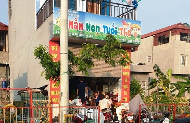 Cơ sở mầm non Tuổi Thơ, nơi xảy ra vụ việc. Ảnh: báo Tiền Phong