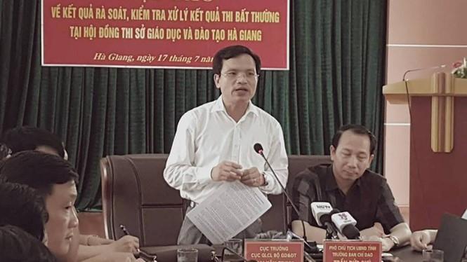 Xử lý gian lận thi ở Hà Giang vẫn khá yên ắng