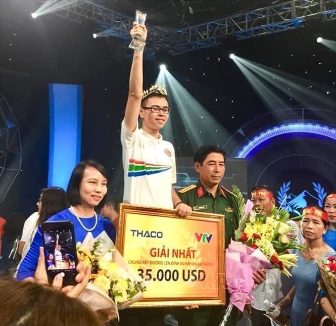 Trần Thế Trung xuất sắc giành ngôi vị nhà vô địch Olympia 2019.