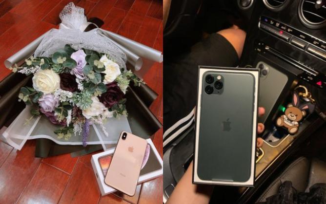 Những chiếc iPhone đình đám như iPhone XS Max hay iPhone 11 Pro Max cũng được Bùi Tiến Dũng săn lùng để tặng cho người đẹp Khánh Linh.