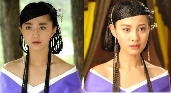 Thiết Lan Tâm của Phạm Băng Băng và vai phản diện Giang Ngọc Yến của Dương Tuyết được tạo hình giống nhau hoàn toàn.