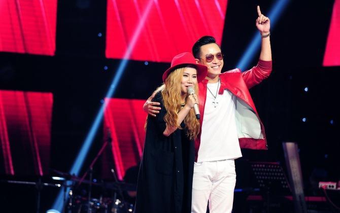Tuấn Hưng cùng trò cưng Yến Lê tại The Voice mùa 3