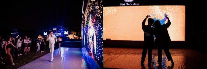 Bức tường tương tác với công nghệ tiên tiến mang đến nhiều niềm vui cho lễ hội