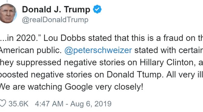 Hăng say chỉ trích Google, ông Trump chẳng hay viết sai chính tả cả tên mình ảnh 1