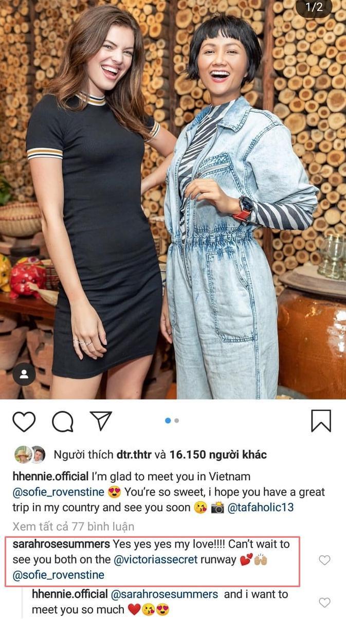 Hoa hậu Mỹ –Sarah Rose Summers mong chờ được thấy H'Hen Niê diễnVictoria's Secret Fashion Show.