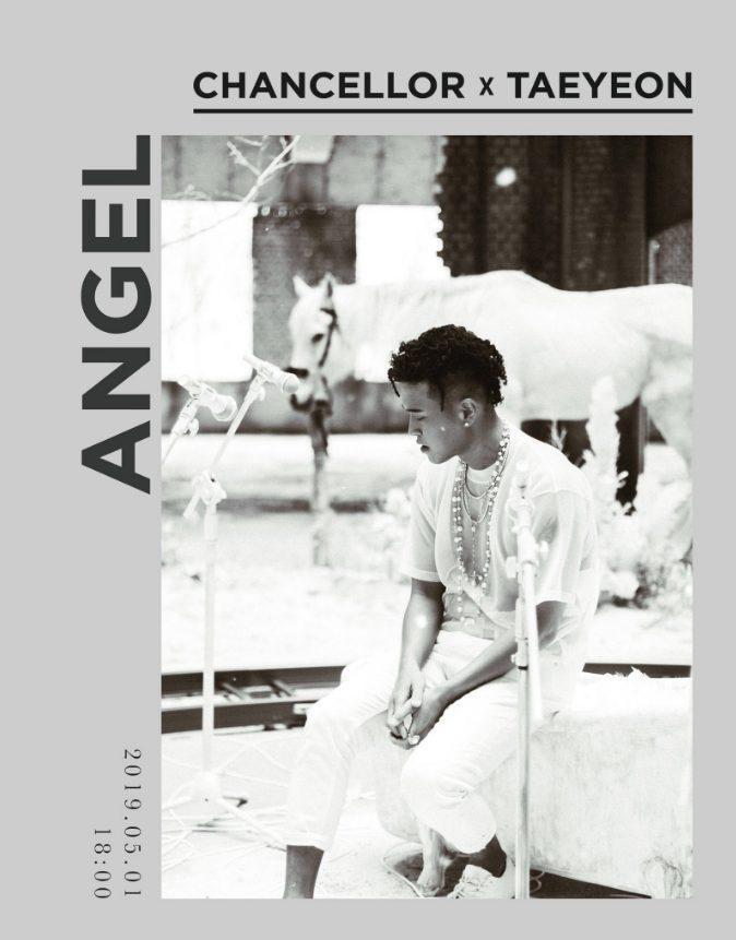 Poster ca khúc Angel của Chancellor và Taeyeon.