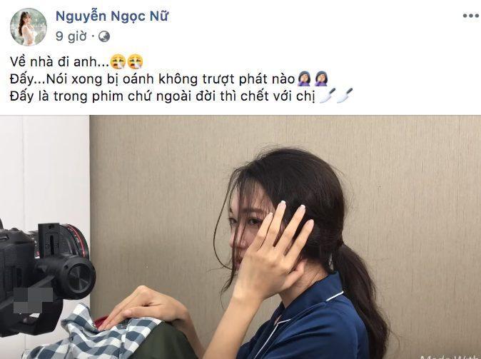 """Ngọc Nữ hóm hỉnh chia sẻ: """"Ngoài đời thì chết với chị"""" khiến fan lo cho Phan Văn Đức lỡ yêu nhầm… """"sư tử""""."""