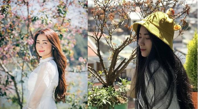 """Kim Anh (bên phải) được nhiều người nhận xét là """"bản sao"""" ca sĩ Hòa Minzy. Nữ sinh ĐH Nguyễn Tất Thành từng bị bạn thân miệt thị ngoại hình và màn 'lột xác' khiến nhiều người bất ngờ"""