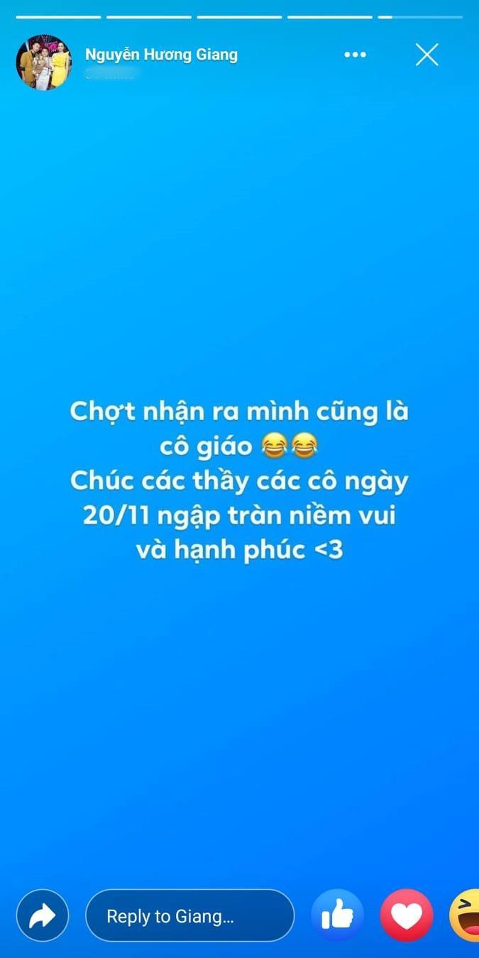 Hương Giang bồi hồi chợt nhận ra mình cũng là cô giáo.