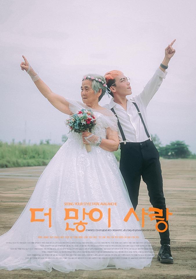 Xúc động bộ ảnh cưới bà nội  cháu trai: Đời người con gái đẹp nhất là khi khoác lên mình bộ váy cưới ảnh 18