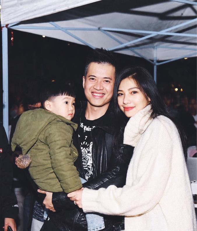 Lưu Đê Ly và Huy DX đã có một cậu con trai 4 tuổi.