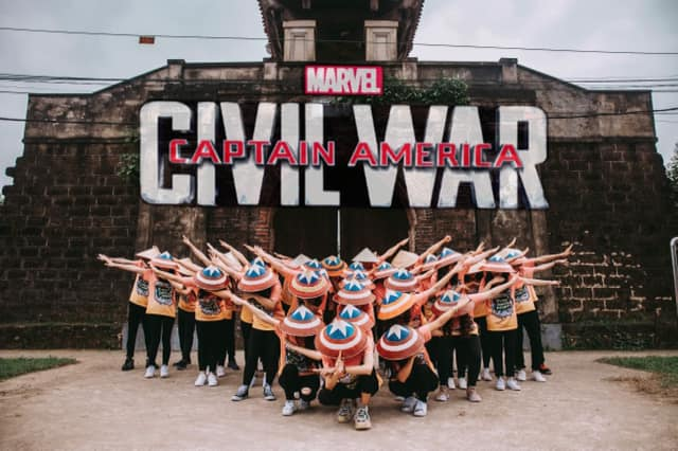 Captain America phiên bản 12A1 THPT Nguyễn Duy Trinh.