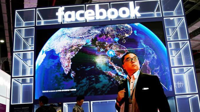 Gian trưng bày của Facebook ở sự kiện China International Import Expo (CIIE) tại Trung Quốc diễn ra hồi đầu tháng 11 năm ngoái. (Ảnh: Reuters)