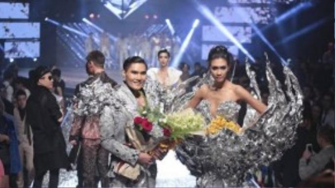 Quang Hùng và Nguyễn Oanh cùng nhau đăng quang trong sự bất ngờ từ khán giả.