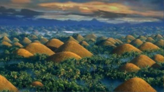 """Ngọn đồi sẽ đổi thành màu """"sô-cô-la"""" khi hoàng hôn xuống."""