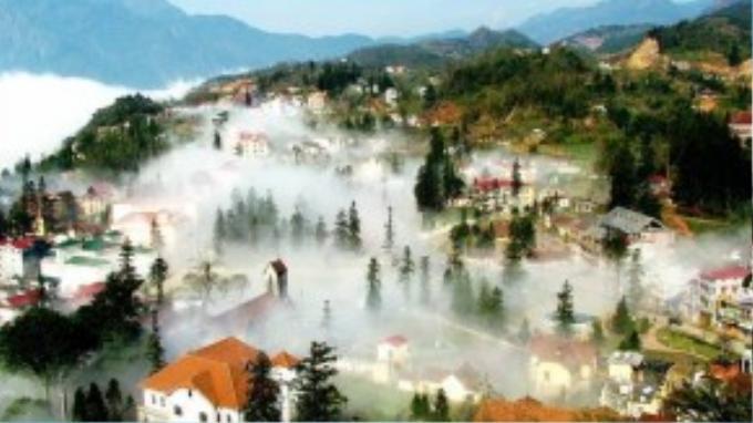 Thị trấn sương mù Sapa là điểm thu hút du khách của Việt Nam.