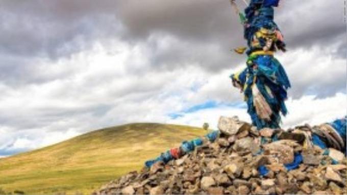 Ovoos được ví như bàn thờ ở Mông Cổ.