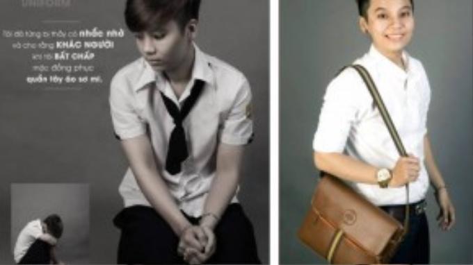 Bạn Trần Thị Thanh Hằng (1995) hiện là sinh viên trường cao đẳng Bách Việt (TP HCM). Cậu bạn từng phải chịu sự dè bỉu, kỳ thị của thầy cô và bạn bè khi không chịu mặc trang phục của nữ đến trường học.