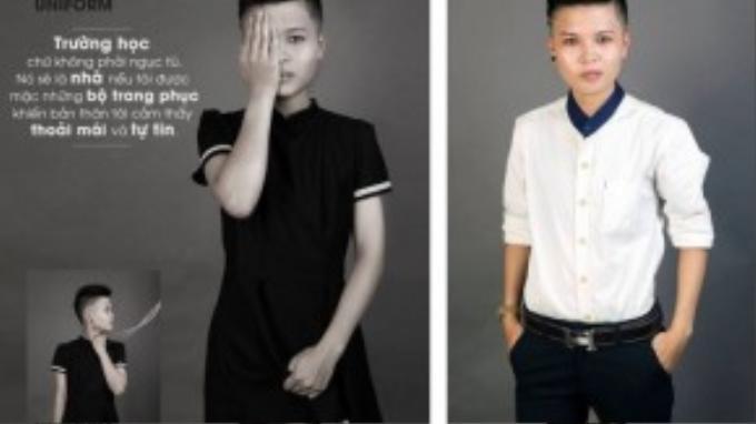 Lưu Ly (1997) Cựu học sinh trường THPT Kom Tum. Cậu luôn hi vọng những người chuyển giới nam sẽ thoải mái nhất có thể khi đến trường để chuyên tâm vào việc học.